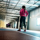 woman ready to run, exercise