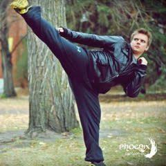 Third Degree Black Belt Daniel Friesen kicking around in the leaves!