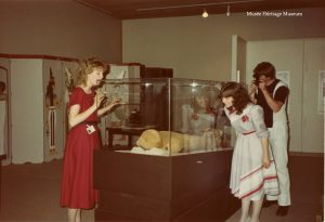 Museum opening ceremony and inaugural display featuring mummification, May 31,1984. Image credit: Musée Héritage Museum