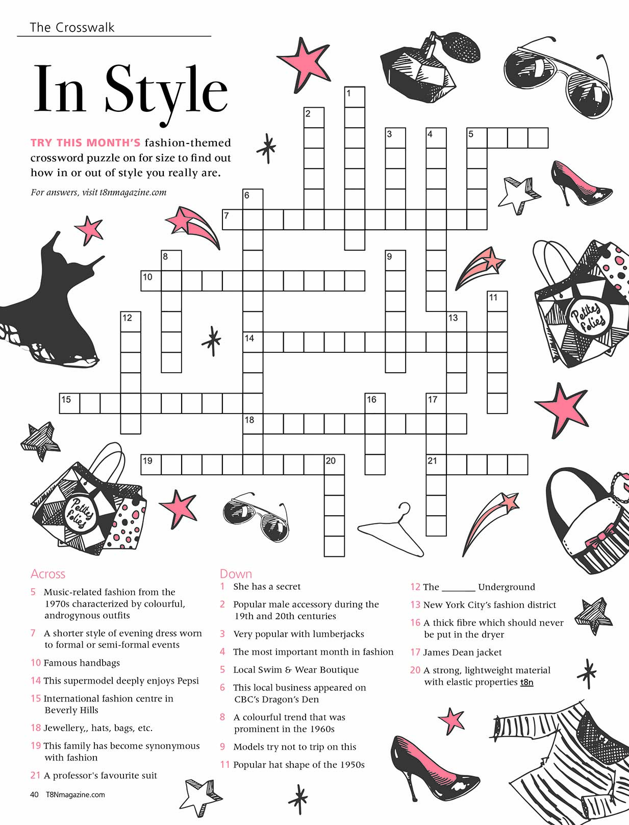 In Style, May 2019, Crossword | T8N