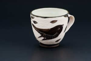 Hand-carved Porcelain Cup, by White Owl Ceramic Studio, $60.03 Etsy shop: Whiteowlporcelain