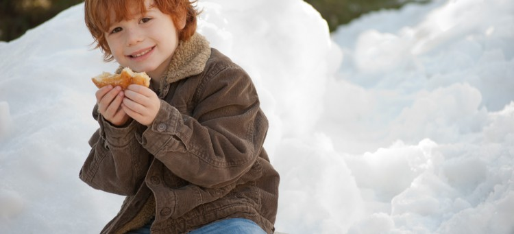 young boy in the snow