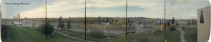 Looking west at Grandin Road intersection. 5 photos glued together.