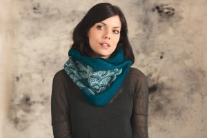 Silkscreened Geometric Scarf (woven & dyed in Montreal), by Noujica, $64 Etsy shop: noujica