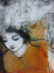 Original Mixed-media Painting, by Maria Pace-Wynters, $163.86 Etsy shop: MariaPaceWynters