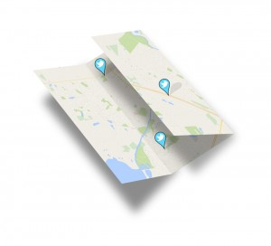 st.Albert map with twitter logos